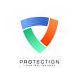 protection logo shield logo flat vector image vector image