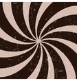 Retro vintage grunge hypnotic CHOCOLATE background vector image vector image
