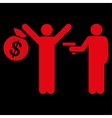 Robbery icon from Business Bicolor Set vector image