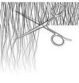scissors cut hair vector image vector image