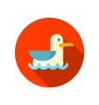 Seagull flat icon with long shadow vector image