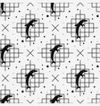 Seamless pattern with dolphin vector image