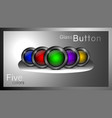 set glass buttons vector image vector image