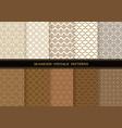 set of damask vintage seamless patterns vector image