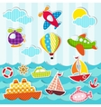 set of sea and air transport vector image vector image