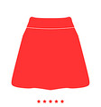 skirt icon flat style vector image