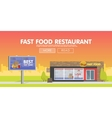 Storefront restaurant selling fast food vector image vector image