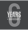 template logo 6 years anniversary vector image vector image