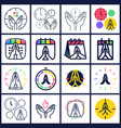 time to pray logo set collectio praying hands vector image