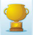 trophy blank cartoon prize reward vector image vector image
