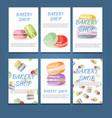 set of bakery label cards for design vector image