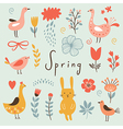 Spring collection elements vector image