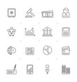 line business banking and finance icons vector image