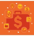 Set of flat icons Business concept vector image