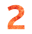 2 land number vector image vector image