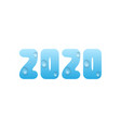 2020 blue water numbers vector image vector image