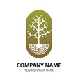 abstract branch and tree logo for company vector image