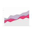 abstract financial paper chart with three curve go vector image
