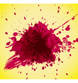 Abstract red splash on yellow background vector image vector image