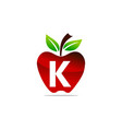 apple letter k logo design template vector image