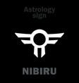 astrology rogue planet nibiru vector image vector image