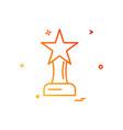 award prize star trophy trophy winner icon design vector image vector image