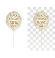 balloon gold spangle black friday 50 percent off vector image vector image