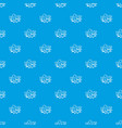 bam comic book bubble pattern seamless blue vector image vector image