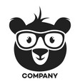 bear with glasses logo vector image vector image
