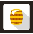 Beer barrel icon flat style vector image vector image