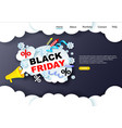 black friday sale website landing page and banner vector image