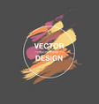 bright color paint stains watercolor brush vector image vector image