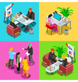 Business Indian 02 Isometric People vector image vector image