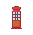 call box line icon concept call box flat vector image