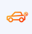 car icon with not allowed sign vector image