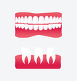 cartoon false teeth vector image