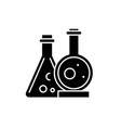 chemical laboratory black icon sign on vector image vector image
