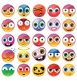 Collection of different emoji faces vector image
