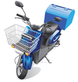 courier scooter vector image vector image