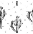 cute cactus seamless pattern with graphic saguaro vector image