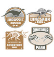 dinosaur label design - vintage dino land banners vector image vector image