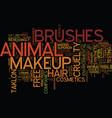 environmental consciousness extends to makeup vector image vector image
