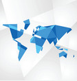 Facet world map vector image vector image