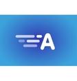Fast line logo A monogram icon vector image vector image