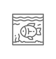 fish in aquarium line icon vector image