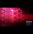 geometric red design with hexagonal grid and vector image vector image