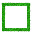 green grass frame 3d isolated on white background vector image vector image