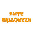 happy halloween banners inscriptions the festival vector image vector image