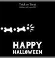 happy halloween skeleton arm card vector image vector image