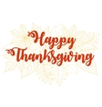Happy Thanksgiving Day 4 vector image